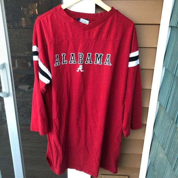 online store f983e a9c3c Alabama Spirit Jersey Long Sleeve Shirt Red